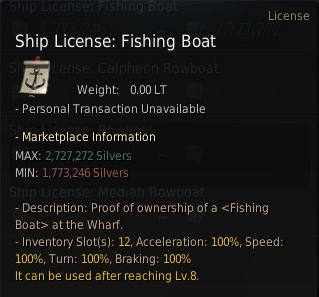 BDO fishing Boat