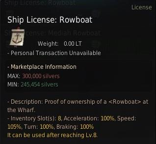 Black desert Rowboat