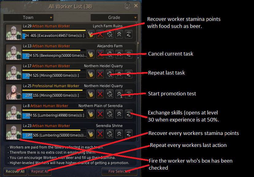 Black desert online workers guide screen