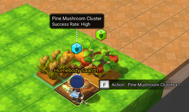 A cluster of foraging tiles that can be gathered from