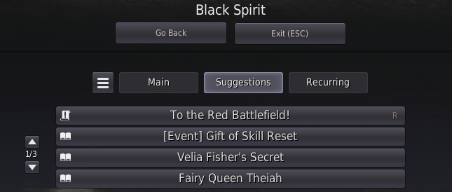 The Black Spirit quests that leads to your first BDO Fairy Companion