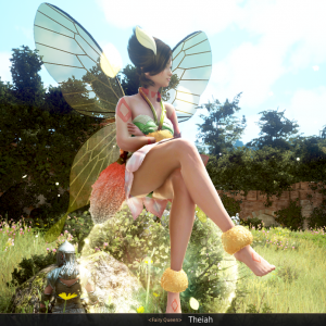 Queen Theia which starts the questline for your fairy companion in BDO